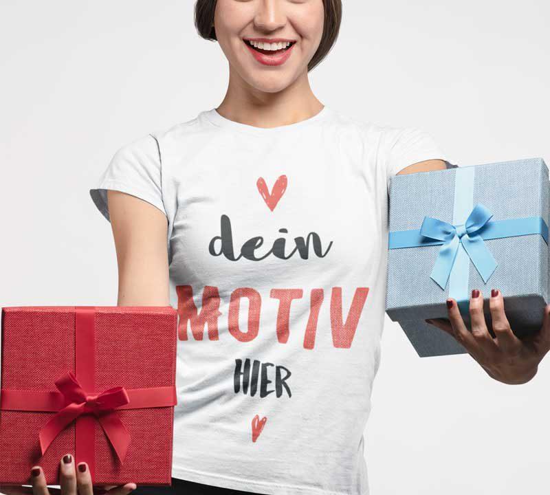 Persönliches Geschenk T-Shirt bedrucken TeeFarm Schweiz