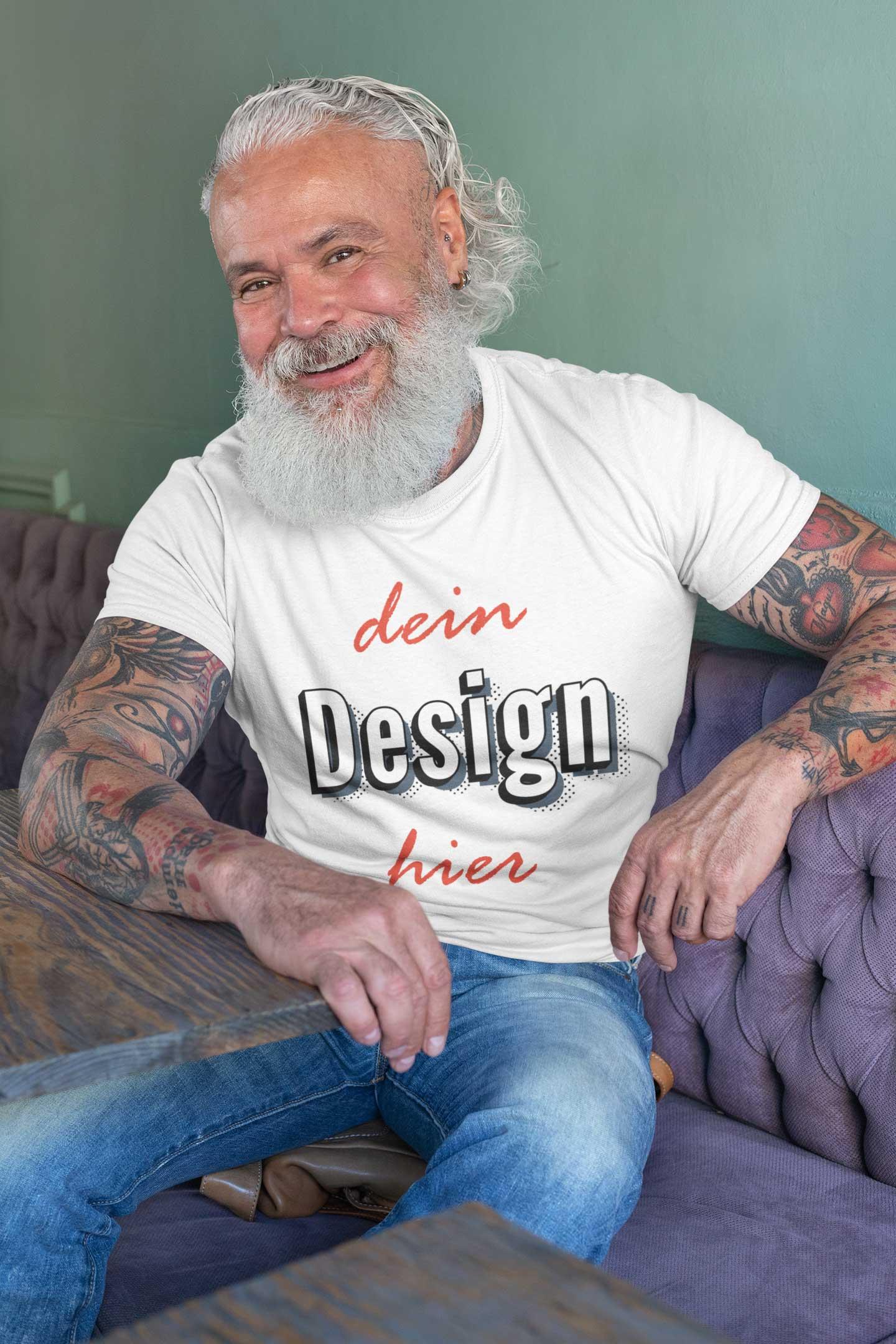 Alter Mann T-Shirt bedrucken T-Shirt - Druck für Männer TeeFarm Schweiz