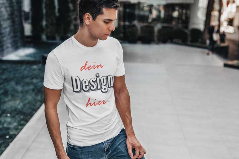 Junger Mann T-Shirt - Druck für Männer TeeFarm Schweiz