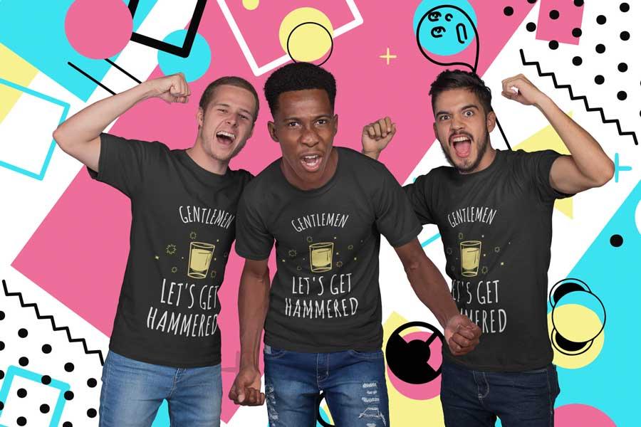 Junggesellenabschied Männer T-Shirt bedrucken