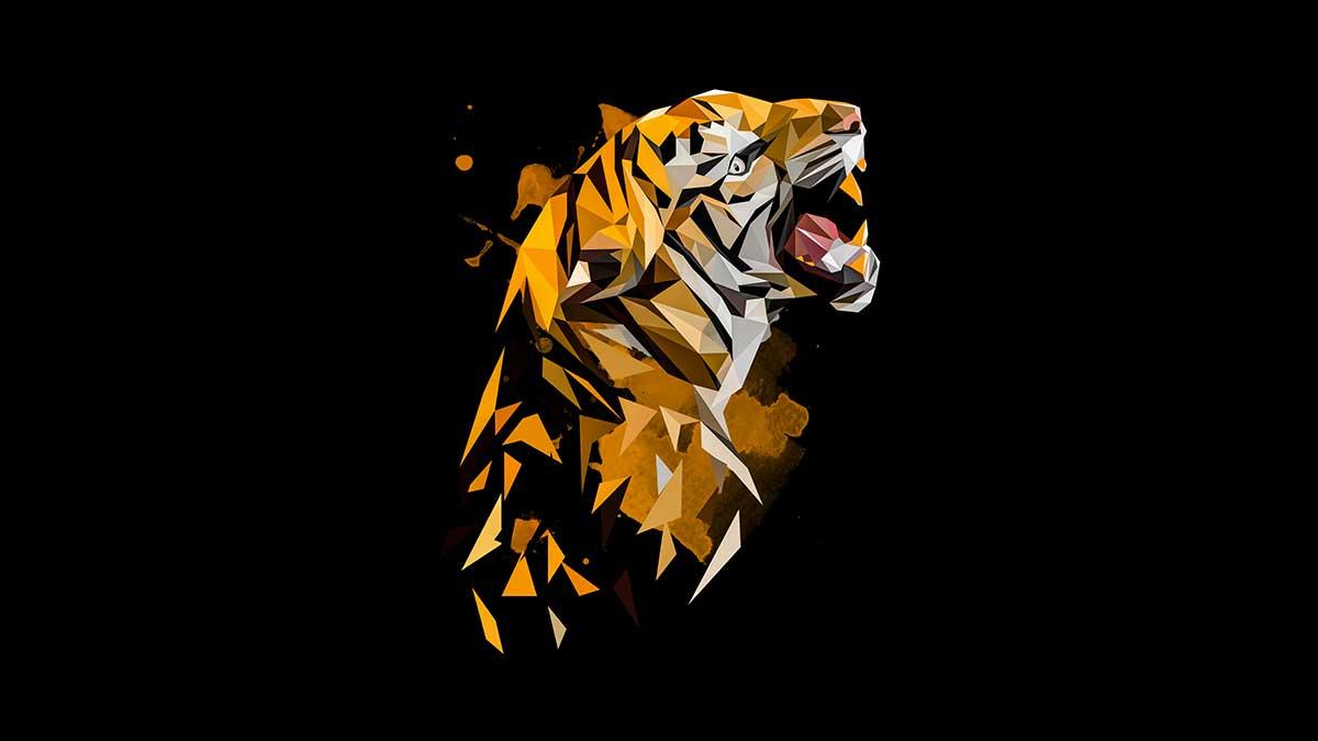 Polygon Art Tiger