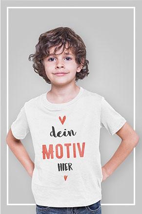 Weissen Kinder T-Shirt zum selber gestalten