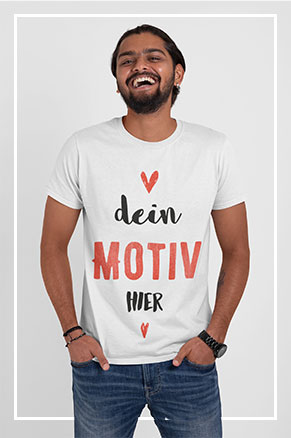 Weisses Männer T-Shirt zum bedrucken