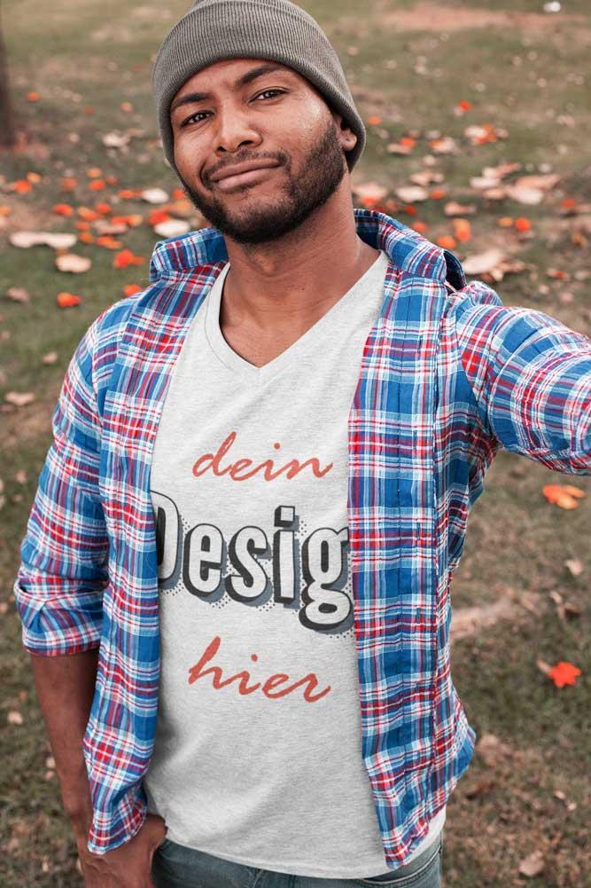 Weisses T-Shirt zum bedrucken auf TeeFarm