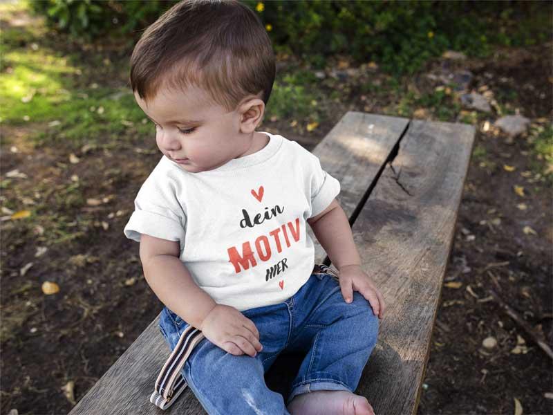 baby t-shirt bedrucken auf teefarm