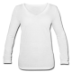Frauen Langarmshirt mit V-Ausschnitt