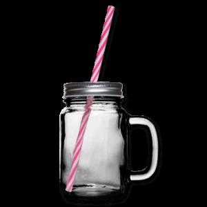 Henkelglas mit Schraubdeckel