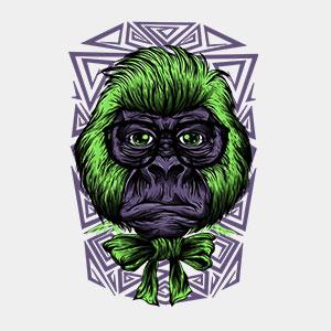 Streetart Affe cooles T-Shirt Designs von TeeFarm