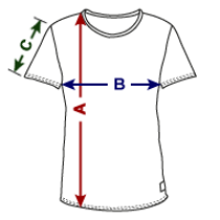 Farbverlauf T-Shirt Grössentabelle