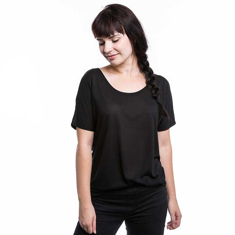 Frauen T-Shirt mit Fledermausärmeln