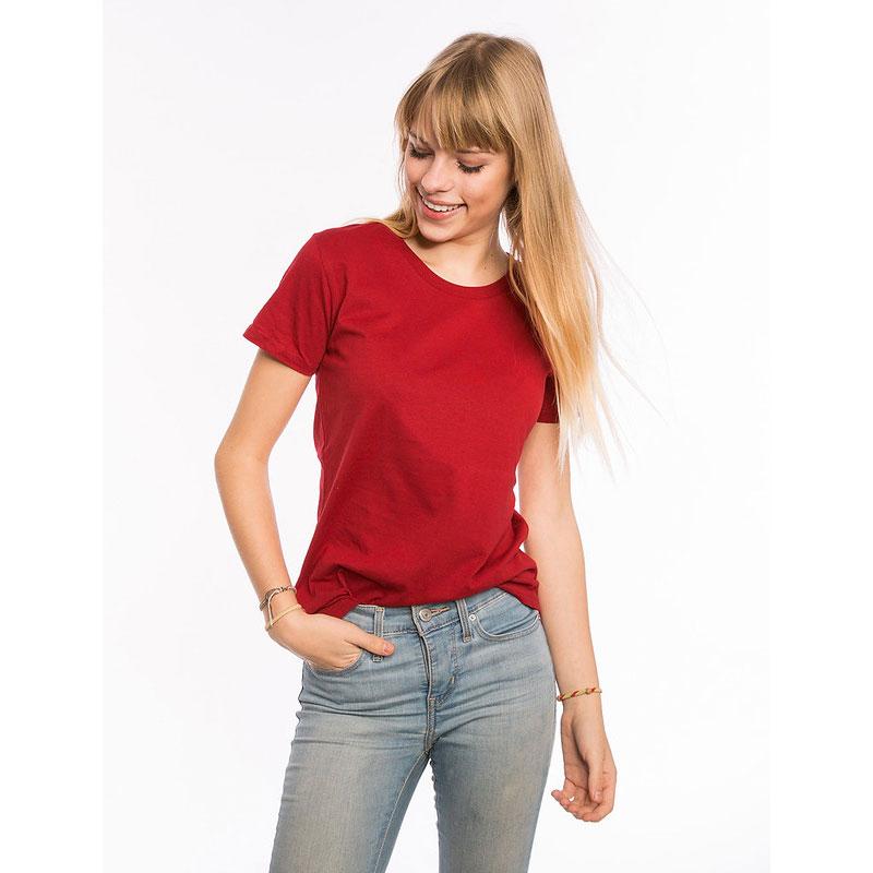 Frauen Bio T-Shirt rot