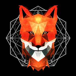 fuchs low poly coole t-shirts von teefarm