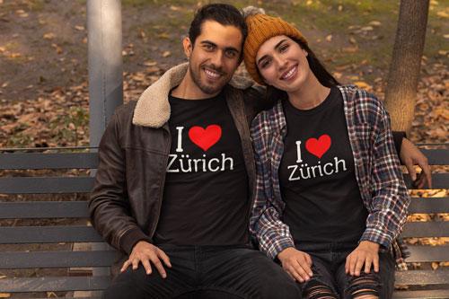 I love Zürich T-Shirt von TeeFarm