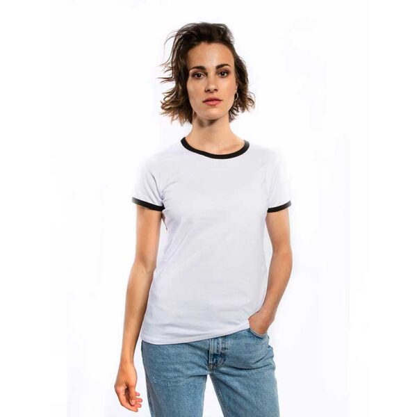 Frauen Kontrast T-Shirt