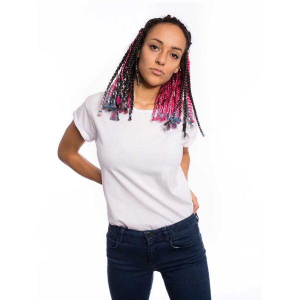oversize t-shirt für frauen in weiss
