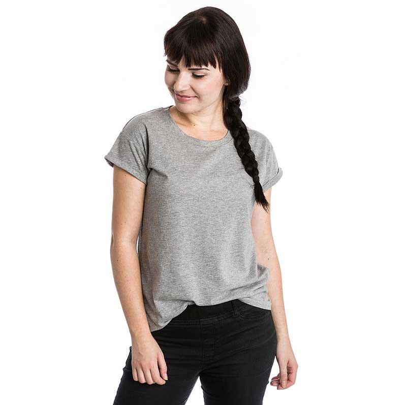 oversize t-shirt für frauen in grau