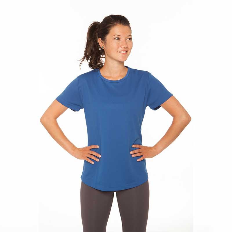 Frauen T-Shirt Atmungsaktiv Blau